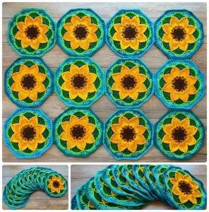 Çiçekli Battaniye Modeli Yapılışı 30