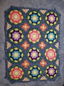Çiçekli Battaniye Modeli Yapılışı 32