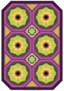 Çiçekli Battaniye Modeli Yapılışı 7