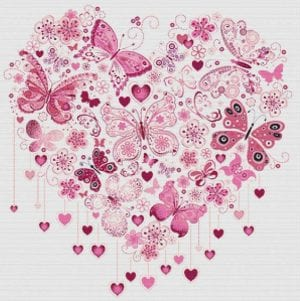 80+ Etamin Şablonları Kalp Desenleri