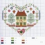 Etamin Şablonları Kalp Desenleri 10