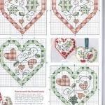 Etamin Şablonları Kalp Desenleri 11