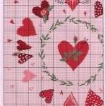 Etamin Şablonları Kalp Desenleri 13