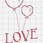 Etamin Şablonları Kalp Desenleri 17