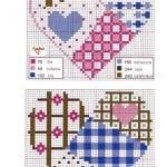 Etamin Şablonları Kalp Desenleri 18