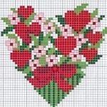Etamin Şablonları Kalp Desenleri 19