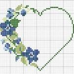 Etamin Şablonları Kalp Desenleri 22