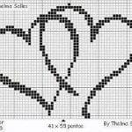 Etamin Şablonları Kalp Desenleri 28