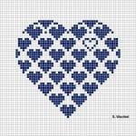 Etamin Şablonları Kalp Desenleri 34
