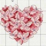 Etamin Şablonları Kalp Desenleri 38