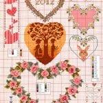 Etamin Şablonları Kalp Desenleri 3