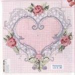 Etamin Şablonları Kalp Desenleri 46