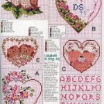 Etamin Şablonları Kalp Desenleri 4