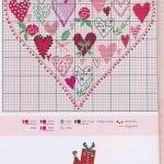 Etamin Şablonları Kalp Desenleri 49
