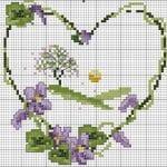 Etamin Şablonları Kalp Desenleri 50