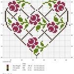 Etamin Şablonları Kalp Desenleri 52