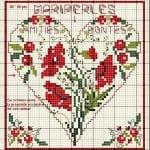 Etamin Şablonları Kalp Desenleri 54