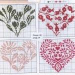 Etamin Şablonları Kalp Desenleri 55