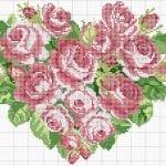 Etamin Şablonları Kalp Desenleri 62