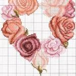 Etamin Şablonları Kalp Desenleri 64