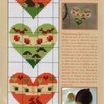 Etamin Şablonları Kalp Desenleri 65