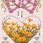 Etamin Şablonları Kalp Desenleri 66