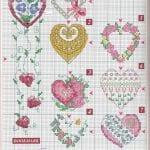 Etamin Şablonları Kalp Desenleri 6