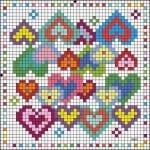 Etamin Şablonları Kalp Desenleri 72