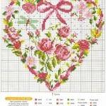 Etamin Şablonları Kalp Desenleri 76
