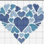 Etamin Şablonları Kalp Desenleri 79