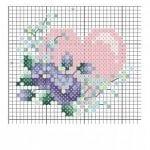 Etamin Şablonları Kalp Desenleri 80