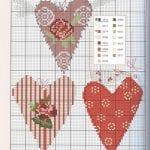 Etamin Şablonları Kalp Desenleri 8