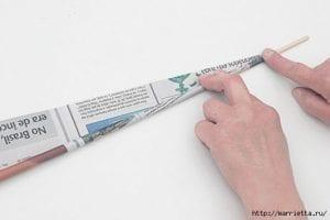 Gazeteden Sepet Yapımı 9