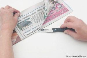 Gazeteden Sepet Yapımı 7