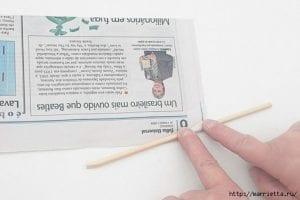 Gazeteden Sepet Yapımı 8