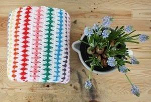 Kolay Renkli Çizgili Battaniye Yapılışı 1
