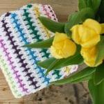 Kolay Renkli Çizgili Battaniye Yapılışı 8
