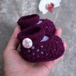 Kolay Tığ İşi Bebek Patik Örnekleri 22