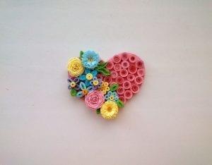 Quilling Kalp Magnet Nasıl Yapılır? 5