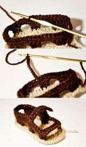 Sandalet Bebek Patiği Yapılışı 8