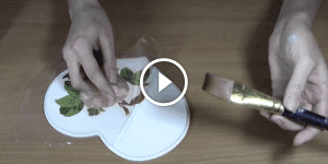 Videolu, Ahşap Boyama Peçete Tekniği