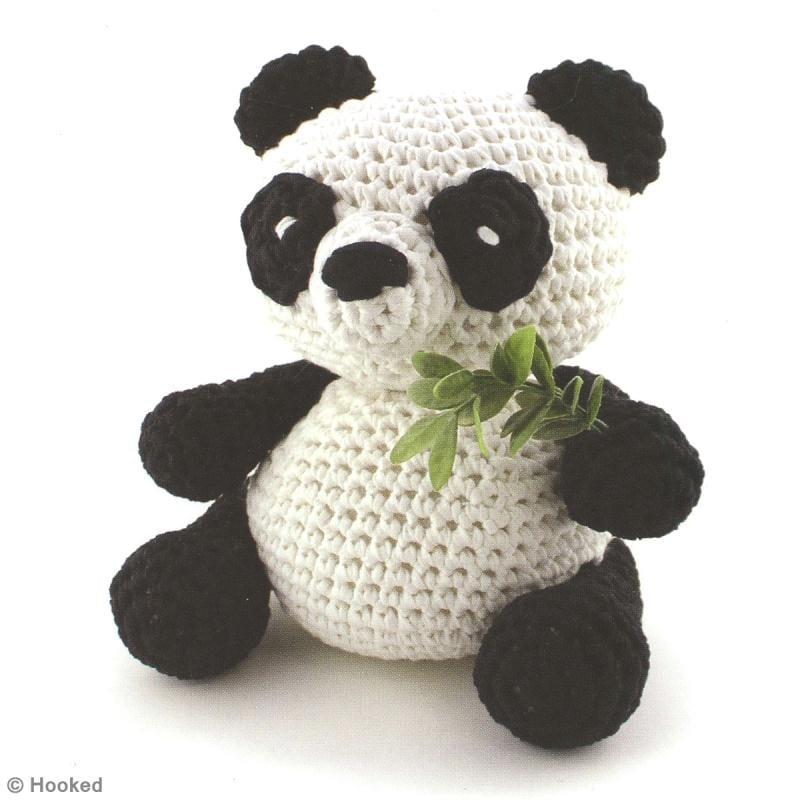 Вязание игрушки панды крючком 55
