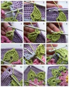 Krokodil Örgü Modeli Battaniye Yapımı 31