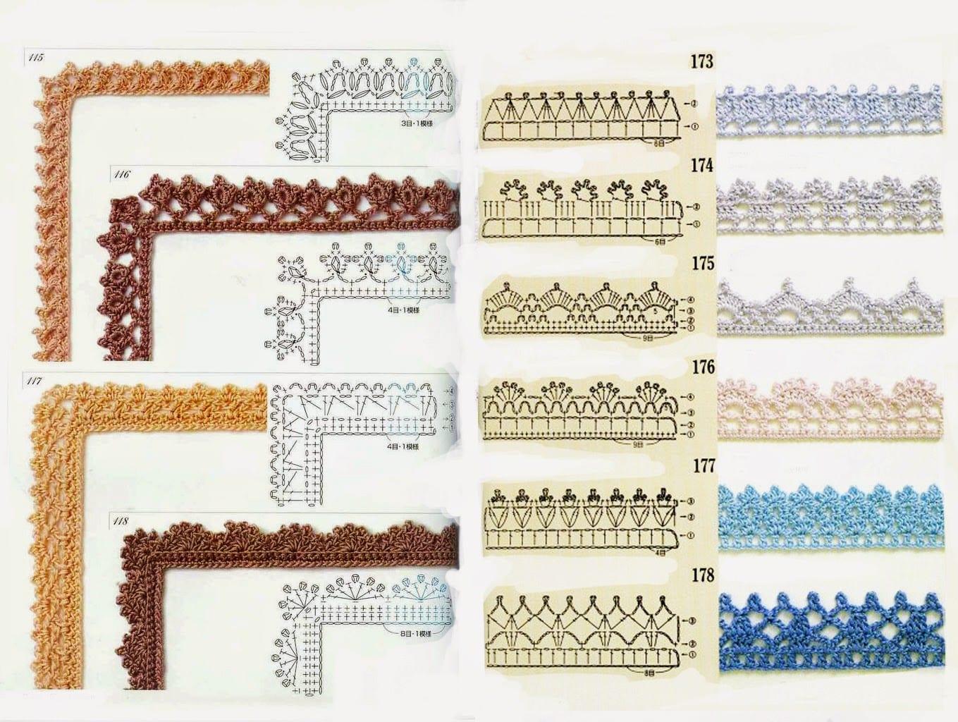 Вязание крючком схемы для вязания крючком с подробным
