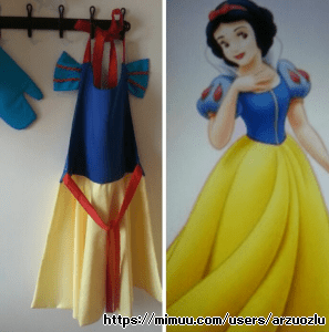 Pamuk Prenses Çocuk Mutfak Önlüğü