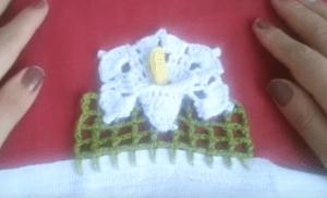 Videolu, Lily Çiçeği Havlu Kenarı Yapılışı