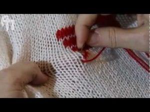 Videolu, Örgü Üzerine Süsleme Nasıl Yapılır?