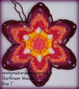 Yıldız Çiçeği Örgü Mandala Yapımı 9