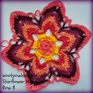 Yıldız Çiçeği Örgü Mandala Yapımı 10