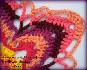 Yıldız Çiçeği Örgü Mandala Yapımı 11